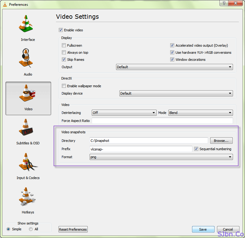 vlc how to change video format