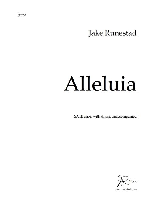 Alleluia (SATB)