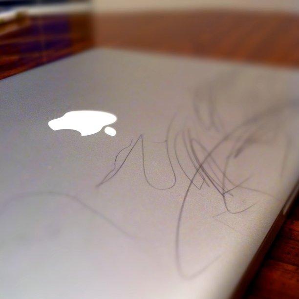 The kid is a rising graffiti artist.