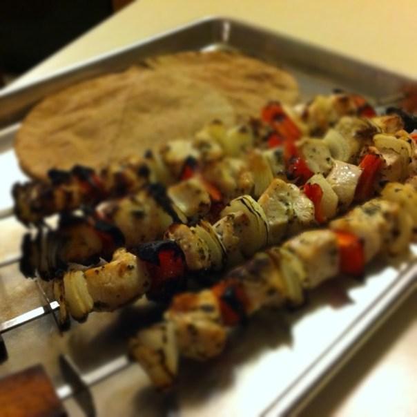 Greek chicken gyros. Yummy...