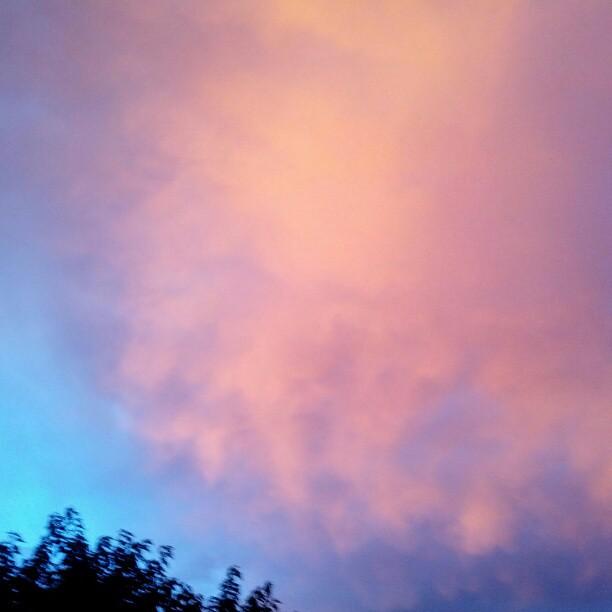 Amazing sunset. #nofilter
