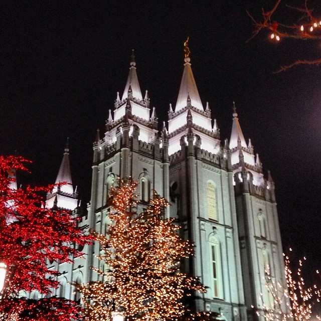 Lights on Temple Square