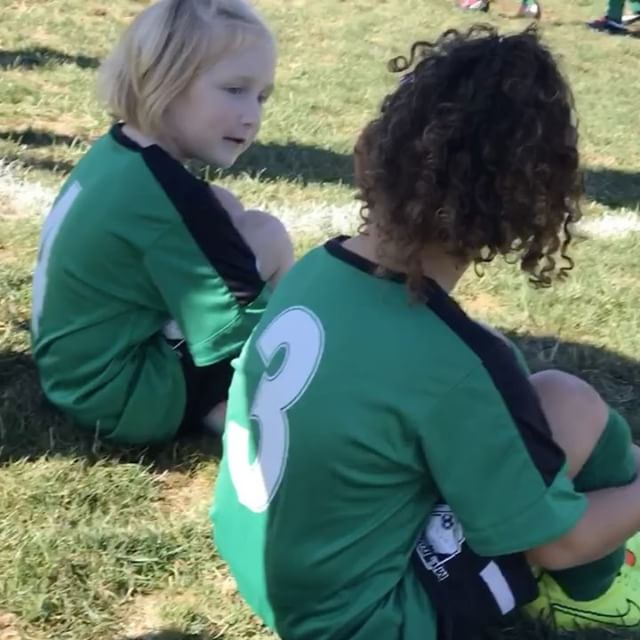Soccer today with Hailey