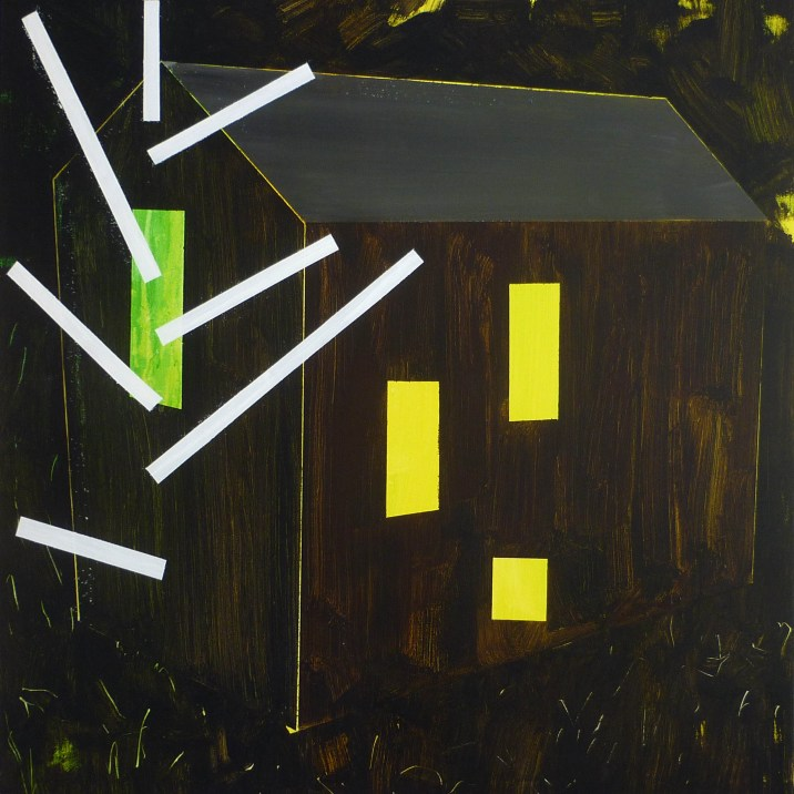 hájovna 1 / Gamekeeper's house 1, 95x100 cm, akryl na plátně / acrylic on canvas, 2014