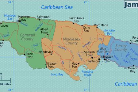 jamaica regions map