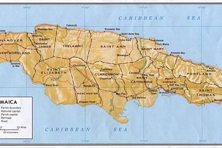 present day map of jamaica