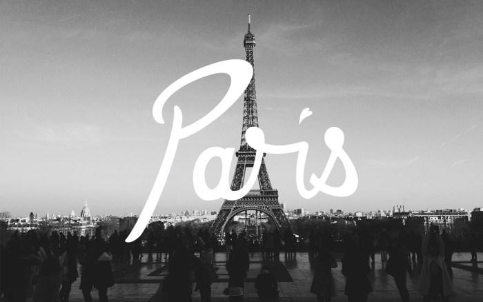 Paris-Lettering