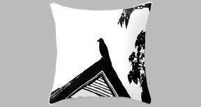 crow grey pillow