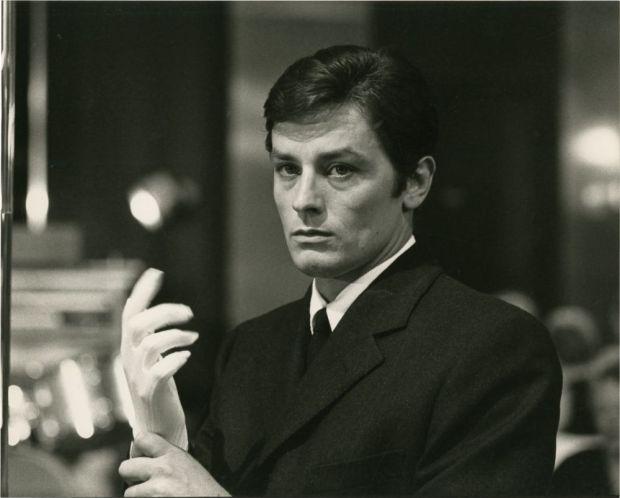 Alain Delon in Jean-Pierre Melville's Le Samourai.