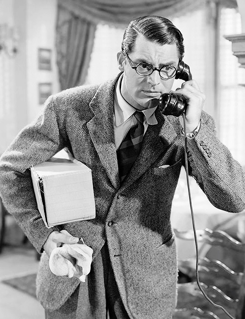 Cary Grant in Howard Hawks' Bringing Up Baby (1938). Suggested by @Movienut14.