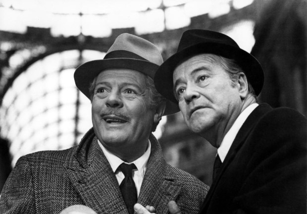 Marcello Mastroianni and Jack Lemmon. Macaroni (Etorre Scola, 1985). Thanks again to @jhpcine.