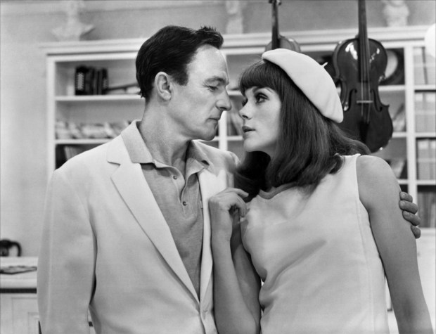 Gene Kelly and Francoise Dorleac. The Youngs Girls Of Rochefort (Jacques Demy, 1967). @SkotArmstong suggested this one.