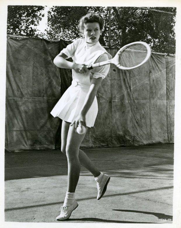 katharine hepburn tennis