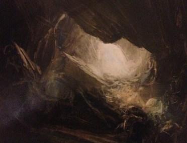 Dark Cave, Oil, 25x16cm