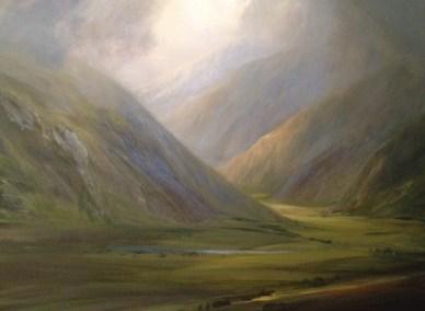 Mountain Glow, Oil, 80x60cm