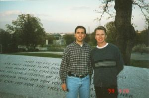 Chris & James in DC, 1999