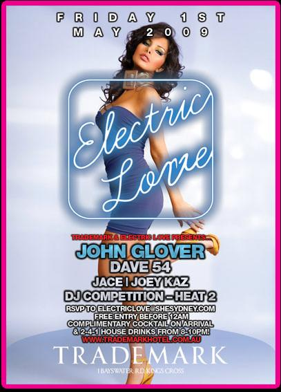 Electric Love Promotional Poster 1st May 2009