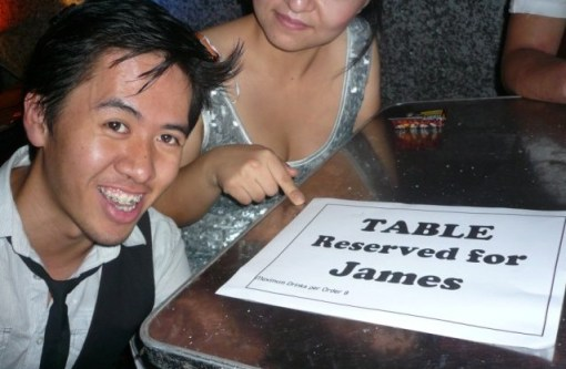 Table reserved for James