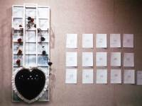 Lying Black Heart, 2' x 6' x 2', wood, styrene, amplified sound system and recorder, found objects