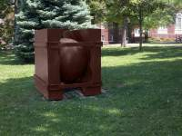 Strapped in Ball, 5' x 5' x 5', welded steel