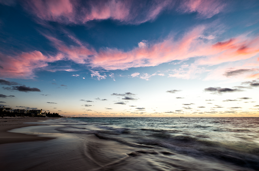 sunset perth beaches seascape photography