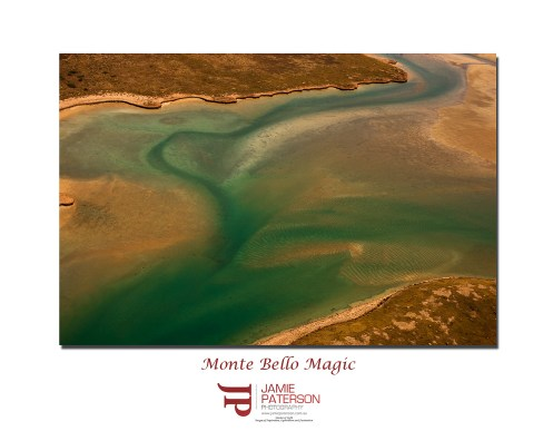 monte bello islands seascape landscape aerial photography
