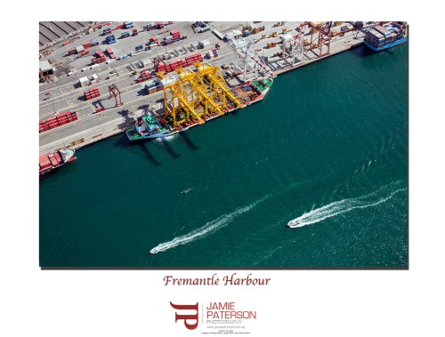 aerial photography, fremantle harbour, australian landscape photography, australian seascape photography, ships
