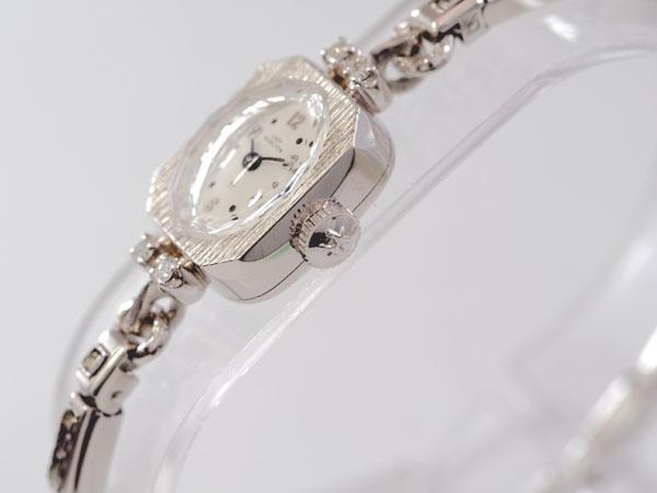 レディーハミルトン 14K金無垢 ダイヤモンド入り レディース 機械式手巻き