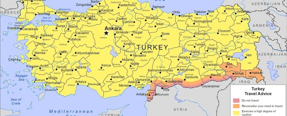 map to turkey