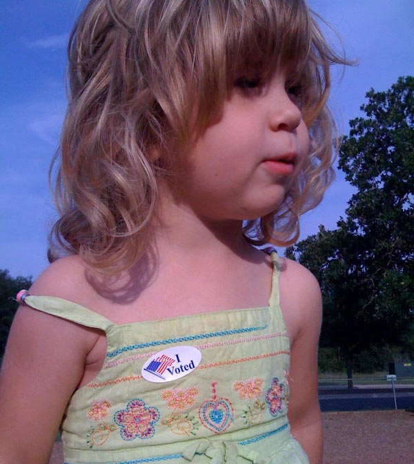 We voted for mayor today
