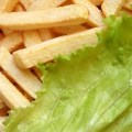 French Fries and Lettuce Salad