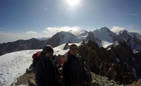Męskie beztlenowe ;) Uczitiel 4530 lub 4540 m (różnie mapy podają). Jedyne wejście na szczyt 13 września.