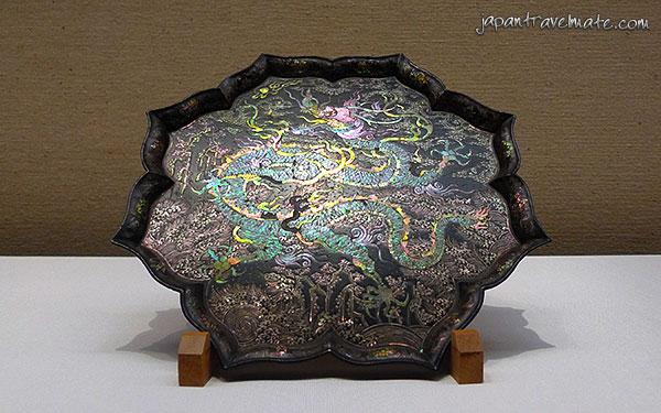 Historic Japanese dragon tray