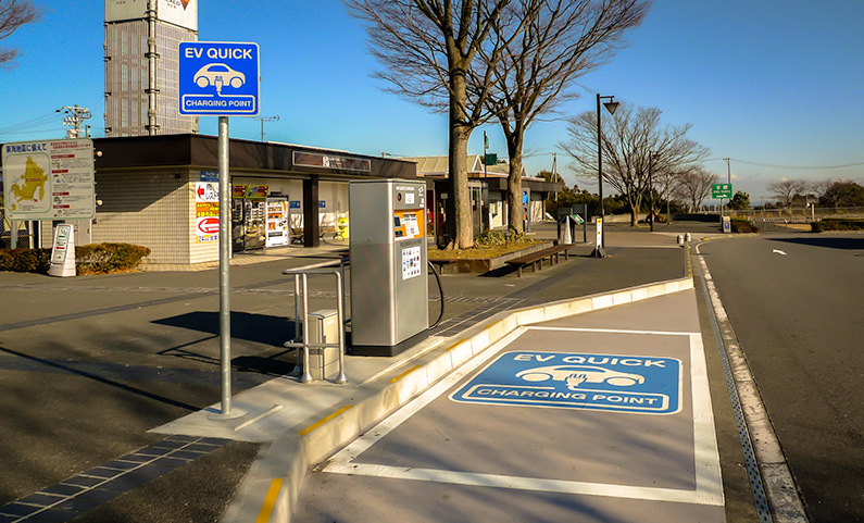 EV Quick Charging Point in Japan
