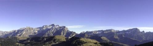 Les diableretes from La Chamossaire, Switzerland, Alps