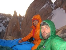 Bivy on the south shoulder of Fitz Roy