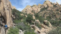 Jesse Quillian going to Bold City at Cochise Stronghold, AZ