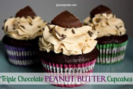 Triple Chocolate Peanut Butter Cupcakes by JavaCupcake