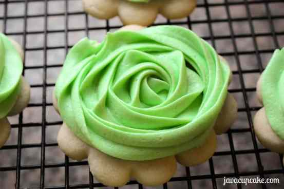 Buttercream Rose Sugar Cookies by JavaCupcake