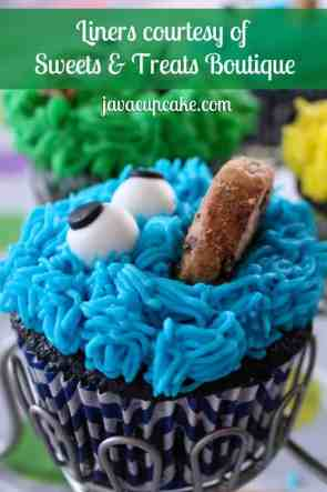 JavaCupcake Sesame Street cupcake liners courtesy of Sweet and Treats Boutique