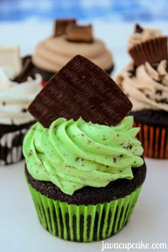 After Eight Cupcakes (mint chocolate) - by JavaCupcake.com