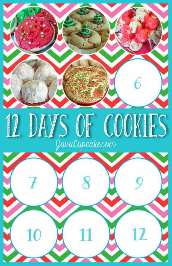 12 Days of Cookies - Day 5 | JavaCupcake.com