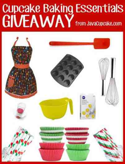 Cupcake Baking Essentials Giveaway from JavaCupcake.com