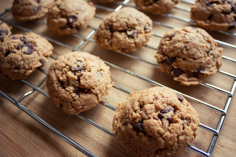Best Ever Chocolate Chip Almond Butter Oat Cookies {Gluten Free, Dairy Free}