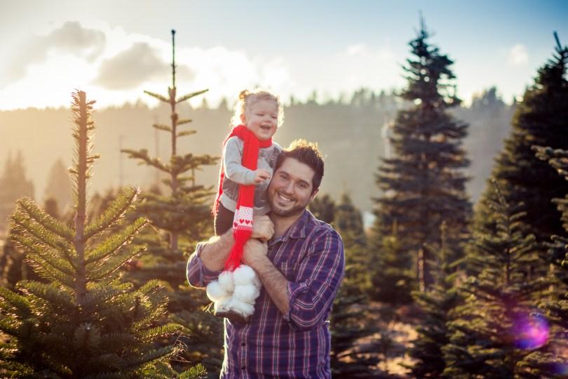 christmas tree farm photo shoot