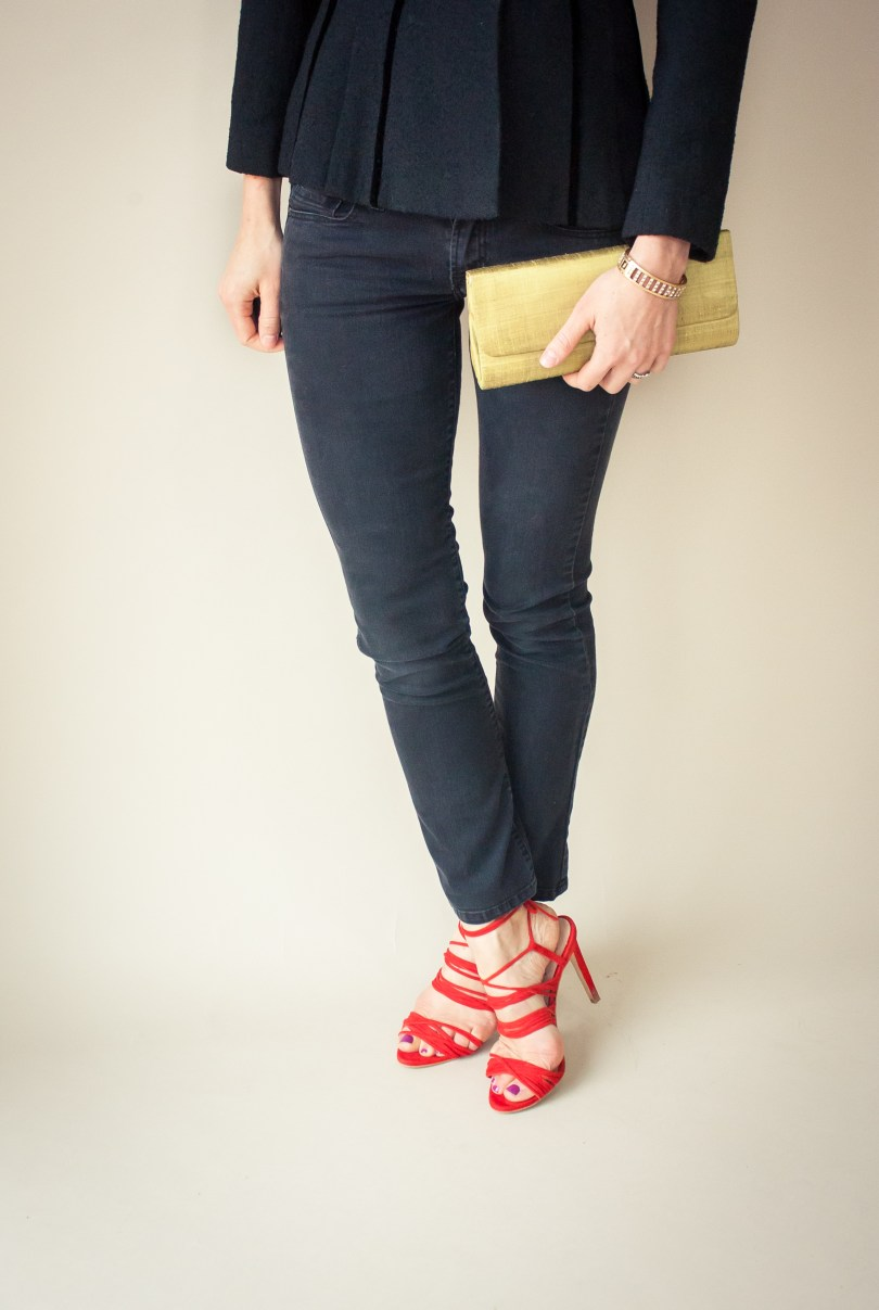 Kim in vintage Lilli Ann + Mode Collective Red Heels