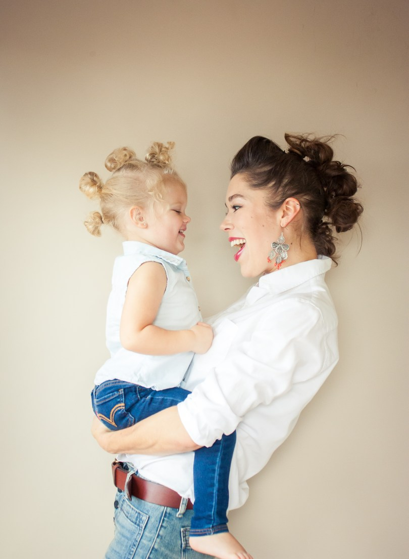 Mommy and Me Matching Mohawk Hairdo