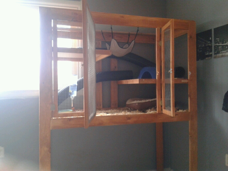 Melisa Robert's Homemade Ferret Cage | Jays Custom Creations