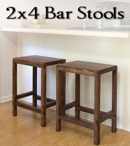 How To Make A Half Lap Bar Stool From 2x4s Jays Custom