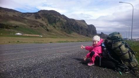 stopem wokół Islandii